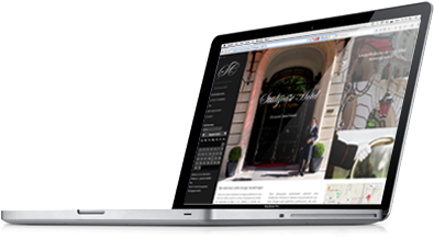 Site interface sur portable