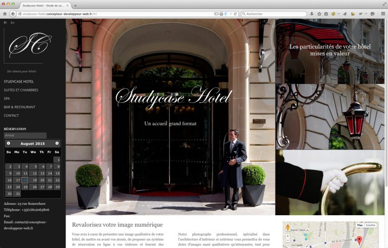 StdCase Hotel Home Page