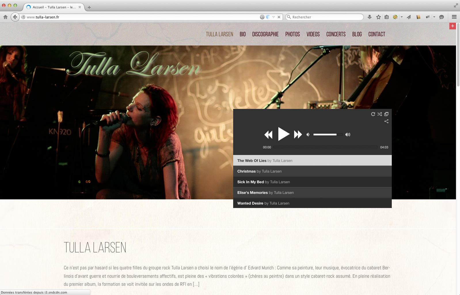 Tulla Larsen Home Page