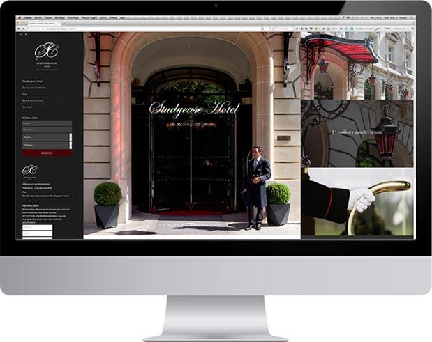 Site catalogue prototype hotel WordPress