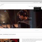 Site internet pour musicien - page d'accueil