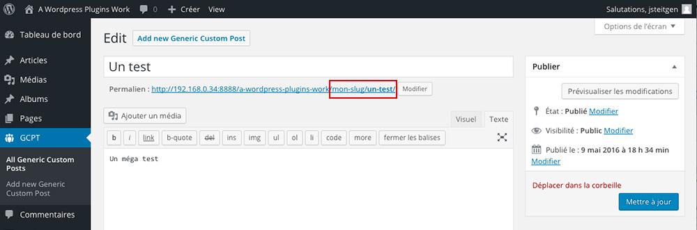 Slug et traduction pour les Custom Post Types WordPress