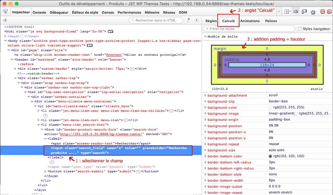 Calcule de taille d'élément HTML depuis FireFox