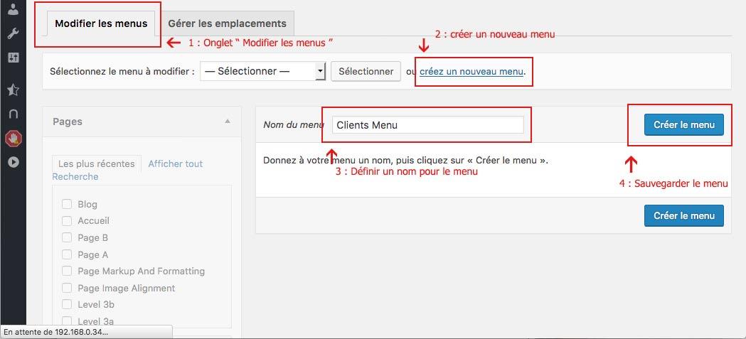 Interface d'administration WordPress : création d'un menu client pour WooCommerce