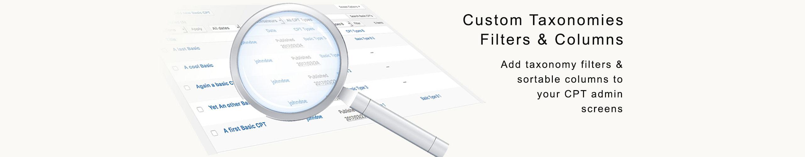 Plugin WordPress Fitres et colonnes de taxonomies personnalisées