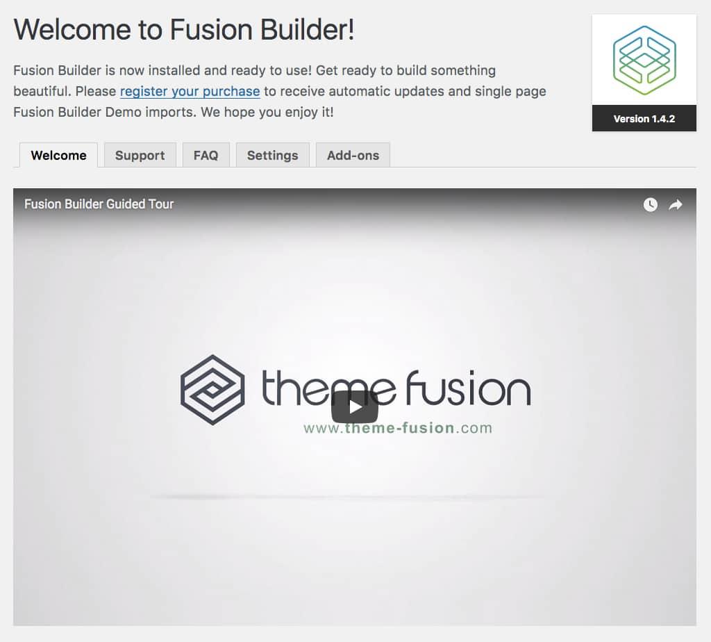 Menu dédié au Fusion Builder d'Avada