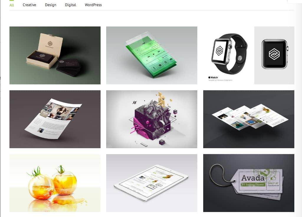Le portfolio d'Avada