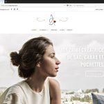 Création du site e-commerce de Joy Zribi, créatrice de sac : page d'accueils.