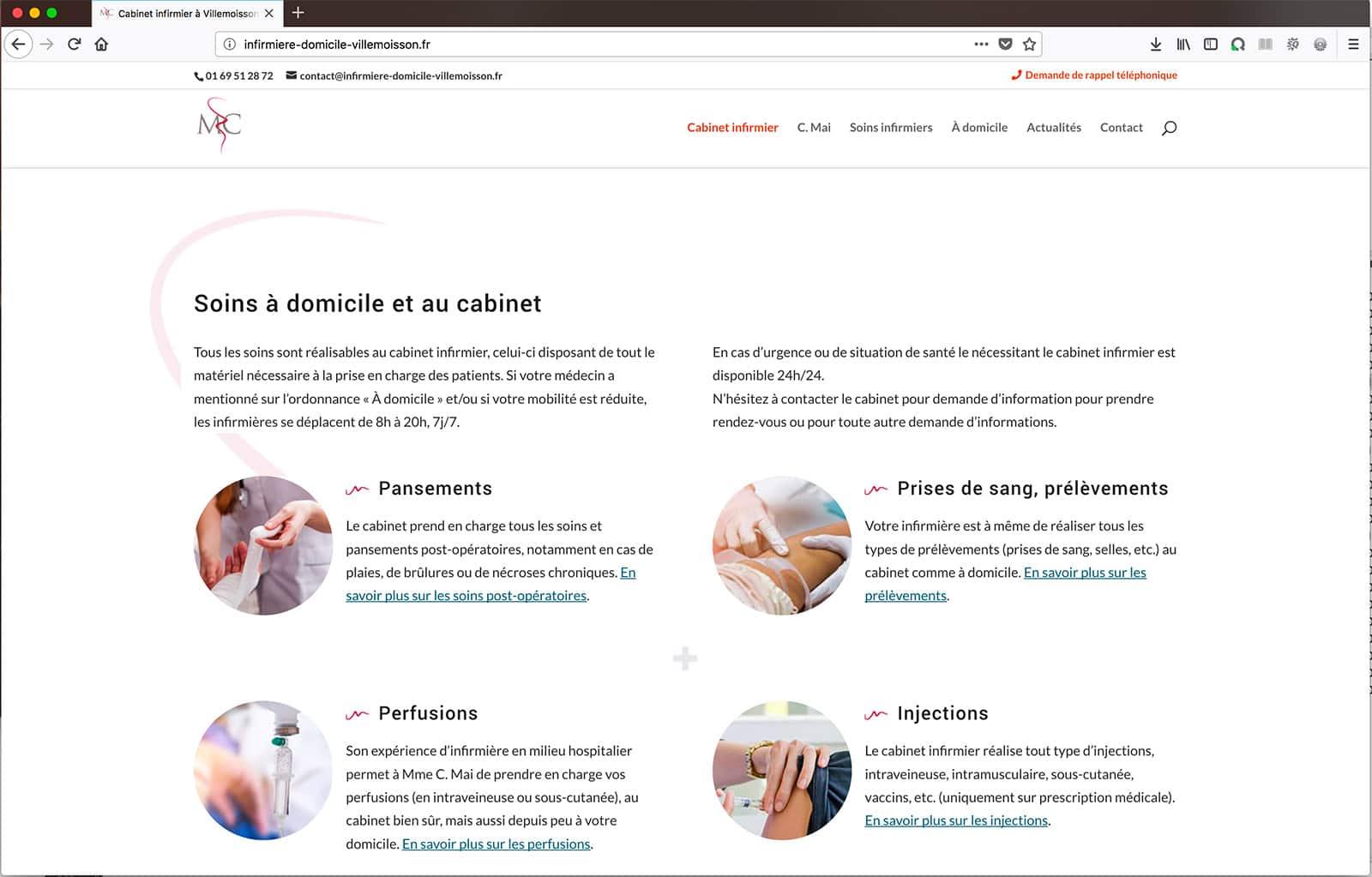 Création d'un site vitrine avec contenu optimisé