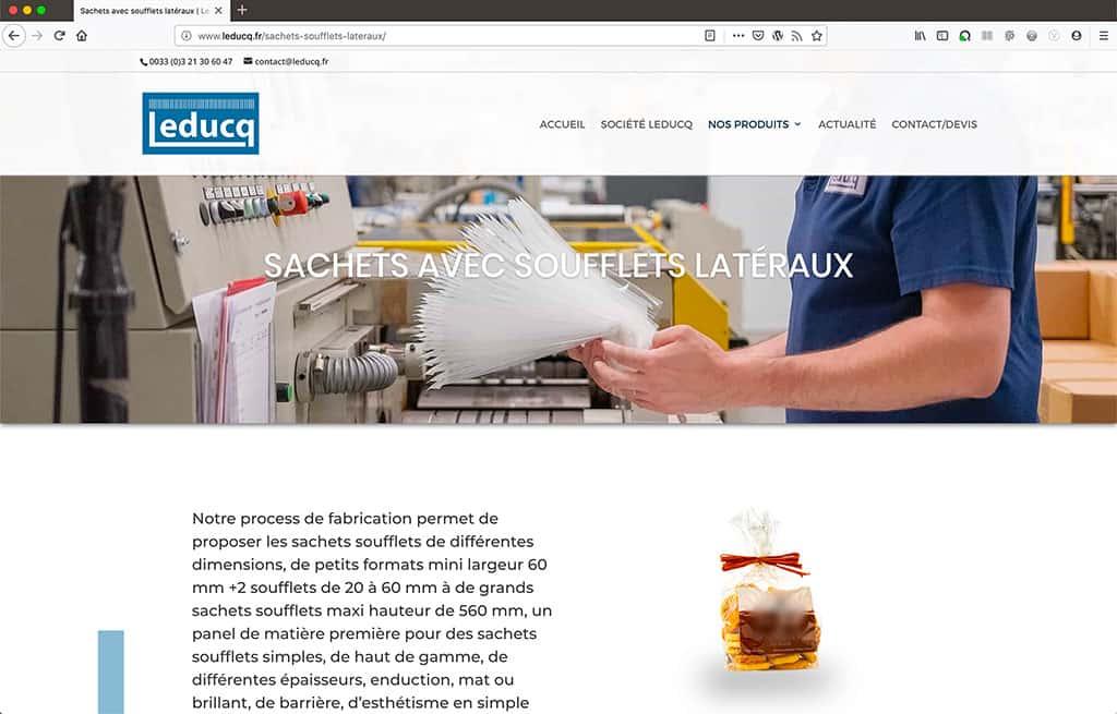 Refonte du site catalogue Leducq