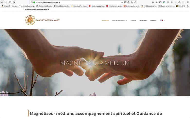 Création du site internet de la société Cabinet Médium Maàt