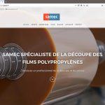Création du site internet de la société Samec, page d'accueil
