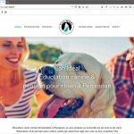 Création d'une site internet pour éducateur canin, page d'accueil  Conception, design, optimisation pour le référencement naturel   CDW