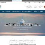 Creation du site de la compagnie aérienne Azur Aviation - page d'accueil - CDW