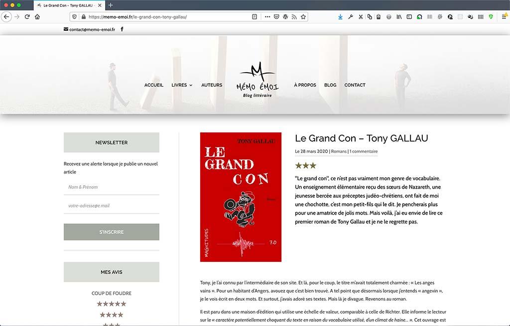 Refonte de blog Mémo Émoi | page individuelle d'article de blog