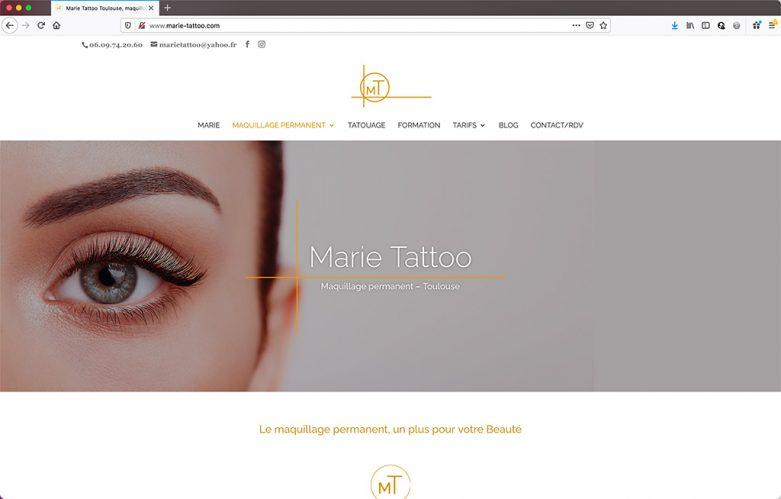 Création d'un site vitrine de salon de beauté à Toulouse |Page d'accueil |CDW