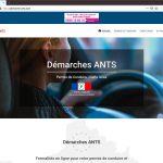 Réalisation e-commerce de services ANTS, page d'accueil   CDW